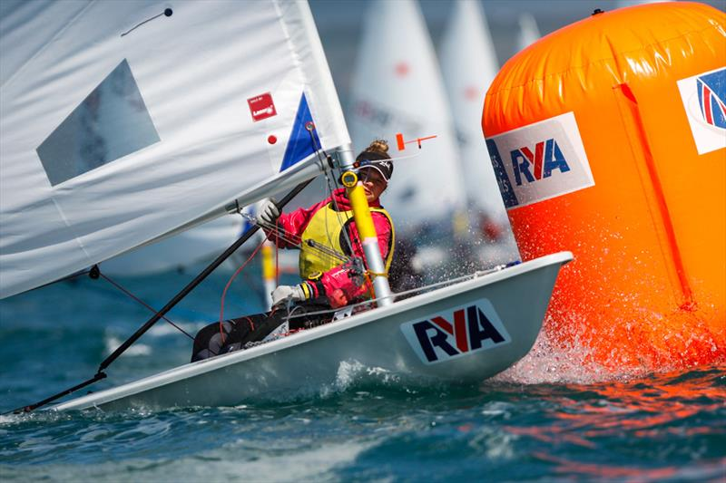 Ellie Cumpsty wins the Laser Radial girl's title the RYA Youth National Championships - photo © Paul Wyeth / RYA