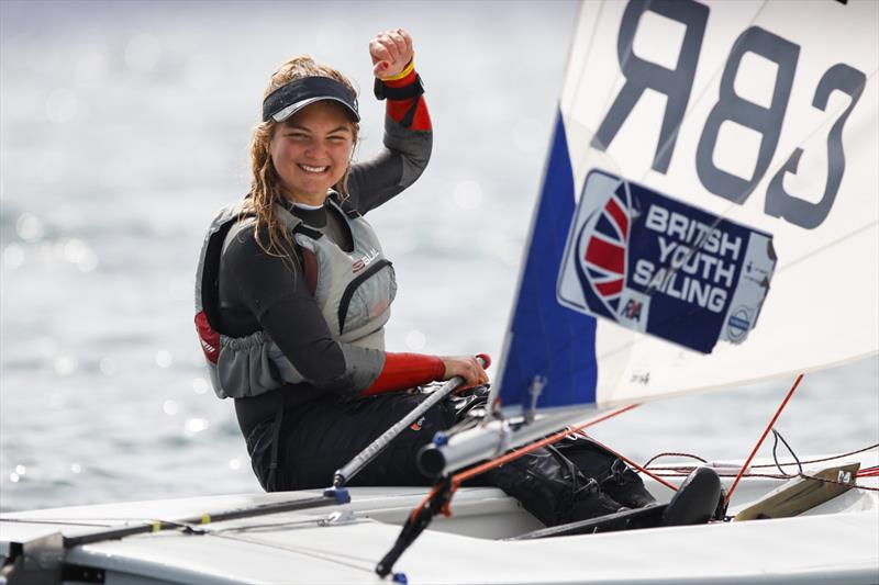 Karyna Manuel at the RYA Youth Nationals - photo © Paul Wyeth / RYA