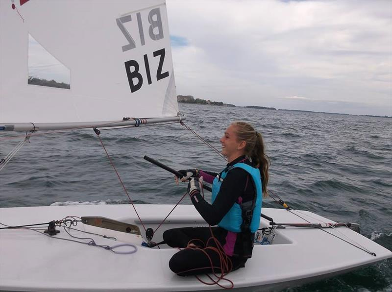Sarah White at the 2016 Sail Canada International Youth Championship  - photo © Forrest Jones