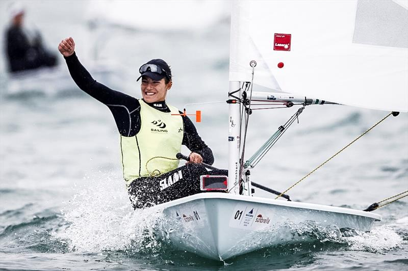 Vasileia Karachaliou (GRE) wins the Laser Radial class at World Cup Series Miami - photo © Pedro Martinez / Sailing Energy / World Sailing
