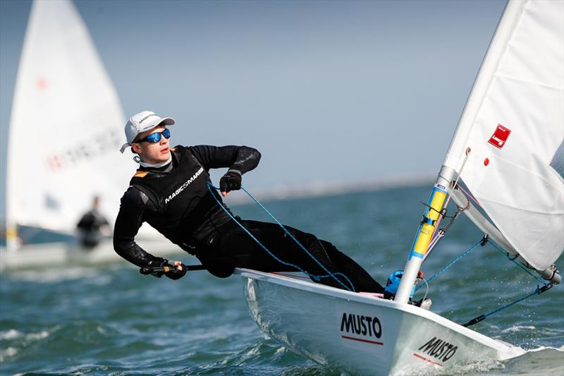 Boys Laser Radial Gold for Ben Whaley at the RYA Youth Nationals - photo © Paul Wyeth / RYA