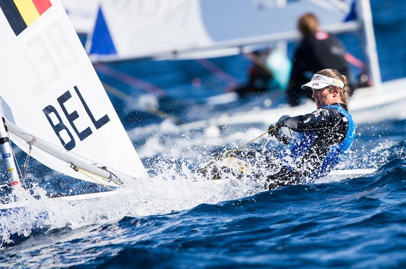 Evi Van Acker in the Laser Radial on World Cup Hyères day 4 - photo © Pedro Martinez / Sailing Energy / World Sailing