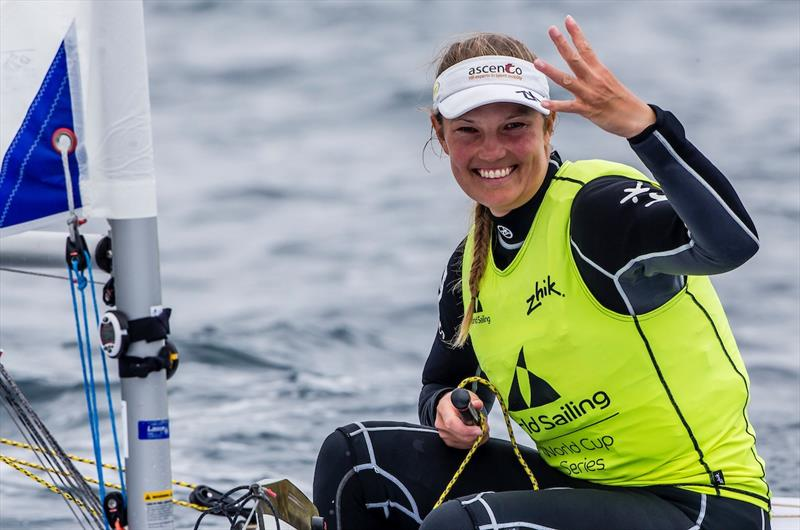Laser Radial gold for van Acker at World Cup Hyères - photo © Jesus Renedo / Sailing Energy / World Sailing