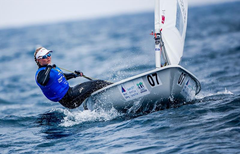 Anne-Marie Rindom on day 3 of the World Cup Series Final in Santander - photo © Jesus Renedo / Sailing Energy / World Sailing