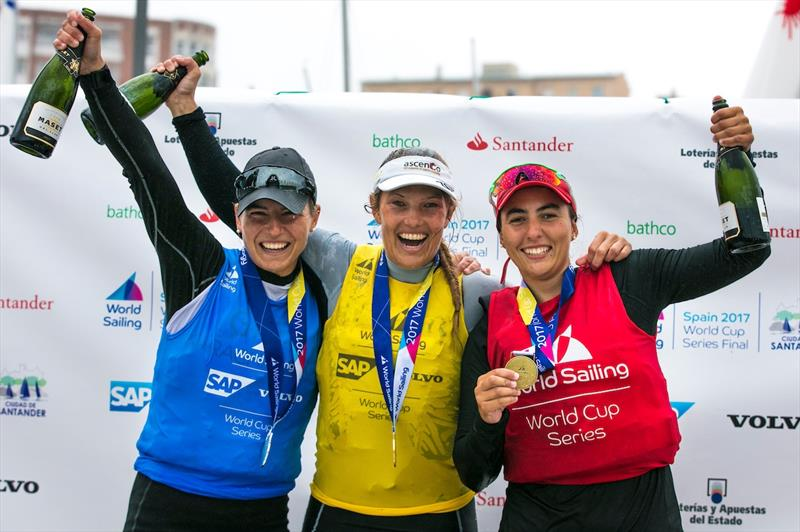 Laser Radial podium at the World Cup Series Final in Santander - photo © Jesus Renedo / Sailing Energy / World Sailing