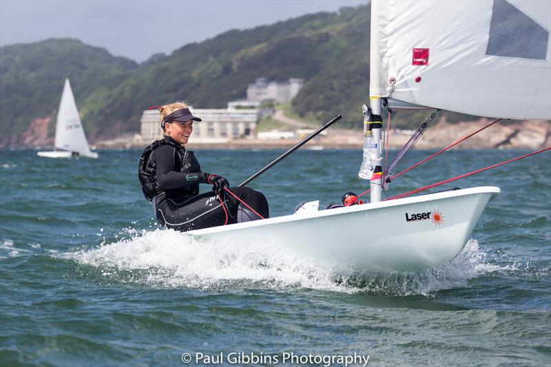 Alice Woodings during the 2017 Plymouth Dinghy Regatta photo copyright Paul Gibbins Photography taken at Royal Western Yacht Club and featuring the Laser Radial class