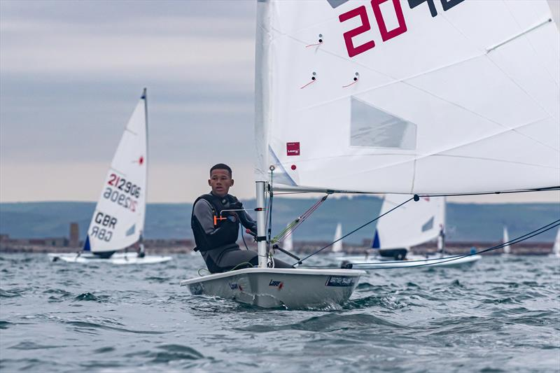 Kai Hockley sailing in Portland Harbour - photo © Scaramouche