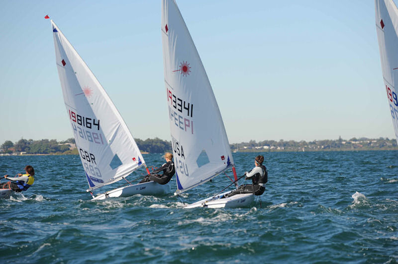 Georgina Povall in action in the Laser Radial