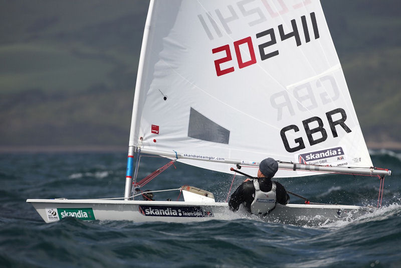 Alison Young (Laser Radial) at the 2012 Skandia Sail for Gold Regatta