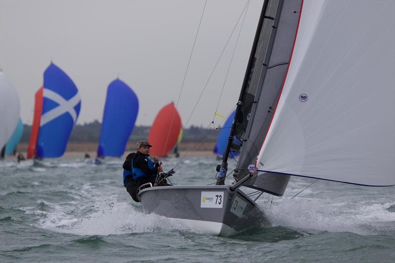 Overall leader Export Roo powers downwind on day 3 of the SB20 Worlds at Cowes - photo © Jennifer Burgis