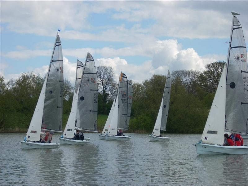 Light winds for the 12 teams at the Banbury Vago open photo copyright Steve Hopkins taken at Banbury Sailing Club and featuring the Laser Vago class