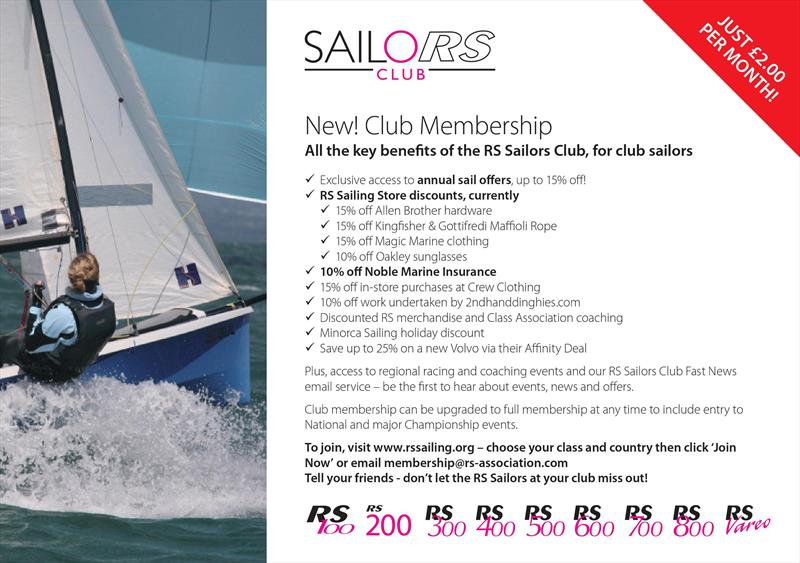 RS Sailors Club - photo © RS Sailing