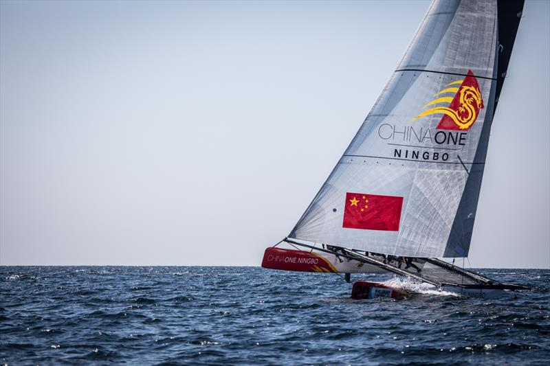 Phil Robertson and the crew of ChinaOne Ningbo win the M32 World Championship - photo © Anton Klock / M32 Worlds