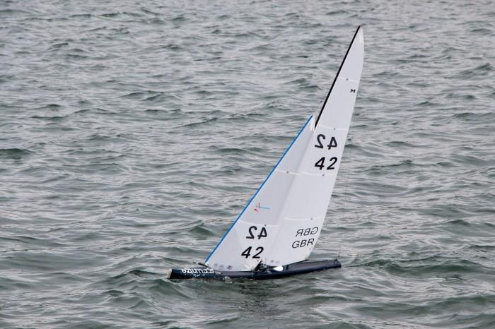 Brad Gibson wins the UK Marblehead Class Nationals at Fleetwood - photo © Tim Lanigan