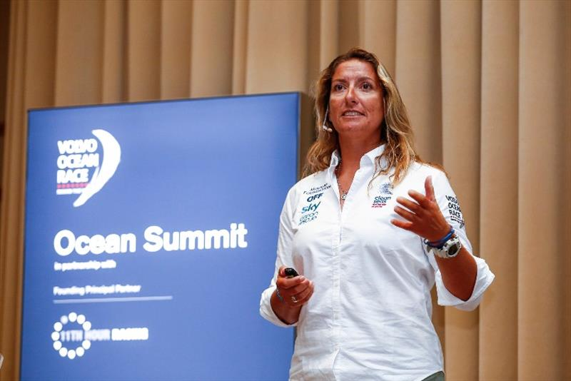 Dee Caffari during the Ocean Summit. 07 December, 2017 photo copyright Pedro Martinez / Volvo Ocean Race taken at  and featuring the Marine industry class