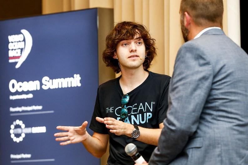 Cape Town stopover. Boyan Slat and Richard Hardiman during the Ocean Summit. 07 December, 2017. photo copyright Pedro Martinez / Volvo Ocean Race taken at  and featuring the Marine Industry class