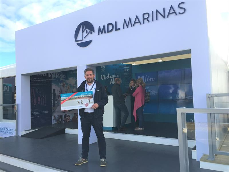 Tom Vallence, winner of the Surf trip for 2 raffle prize courtesy of MDL Marinas - photo © Marine Resources