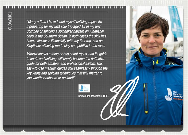 Marlow Splicing Guide foreword by Dame Ellen MacArthur - photo © Marlow