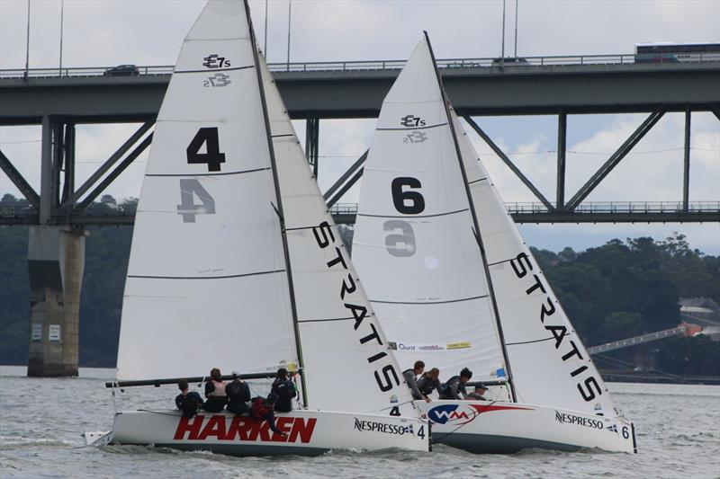 Wilson leads Farquharson on day 3 of the 2018 Nespresso Youth International Match Racing Cup - photo © Andrew Delves