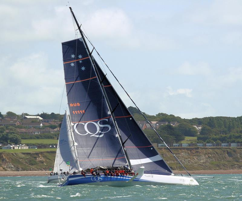 CQS exits the Solent after the Rolex Fastnet Race start - photo © Mark Jardine / YachtsandYachting.com