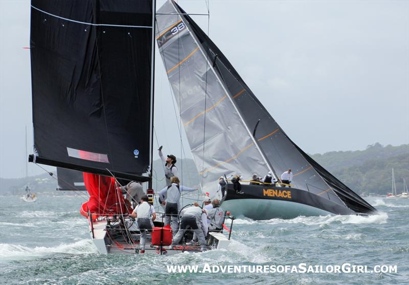Ginger and Menace roundup on day 1 of the MC38 Australian Championship - photo © Nic Douglass / Adventures of a Sailor Girl