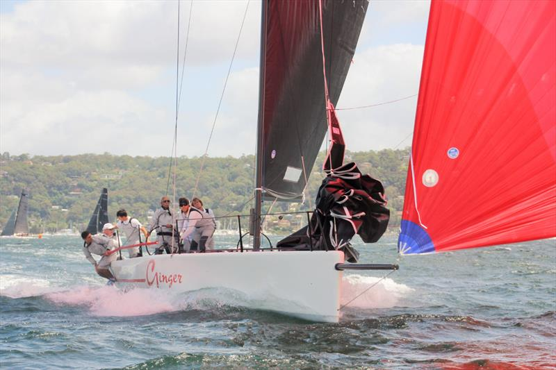Leslie Green's Ginger on day 1 of the MC38 Australian Championship - photo © Nic Douglass / Adventures of a Sailor Girl
