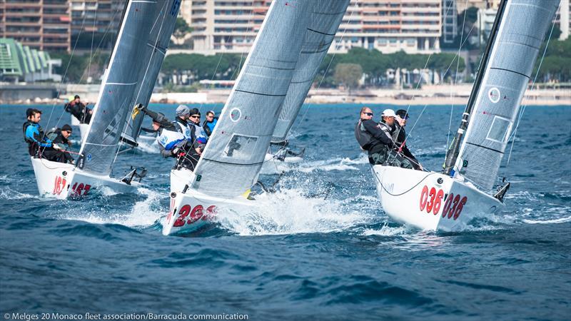 Melges 20s in Monaco - photo © Marina Semenova