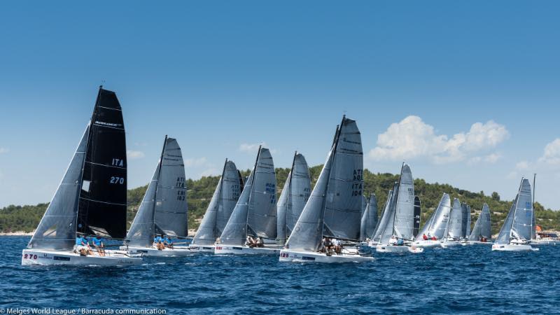 Melges 20 European Championship at Sibenik day 1 - photo © Melges World League / Barracuda Communication