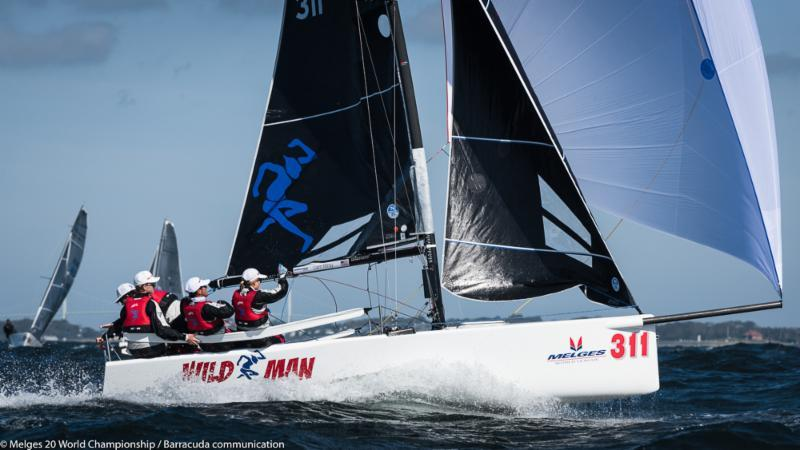 Liam Kilroy, WILDMAN (USA-311) on day 1 of the Melges 20 Worlds at Newport, R.I. - photo © Melges 20 World Championship / Barracuda communication