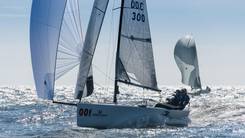 Drew Freides' PACIFIC YANKEE (USA-300) on day 2 of the Melges 20 Worlds at Newport, R.I. - photo © Melges 20 World Championship / Barracuda communication