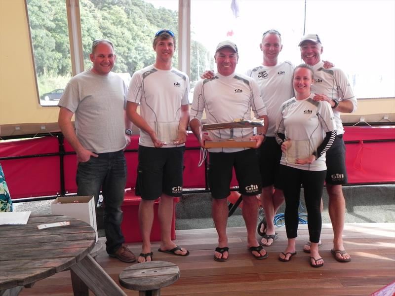 Brian Fennessey from OneSails with Gill Race Team (1st) at the OneSails Melges 24 UK Nationals prize giving - photo © Ian Videlo