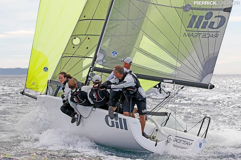 The Corinthian winner of the 2016 Melges 24 European Sailing Series - Miles Quinton's Gill Race Team GBR694 with Geoff Carveth helming at the Marinepool European Championship 2016 in Hyeres - photo © Pierrick Contin / www.pierrickcontin.com