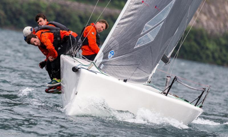 Eddy Eich's Musto Racing on day 1 of the Melges 24 European Sailing Series at Riva de Garda - photo © M24CA / ZGN / Mauro Melandri