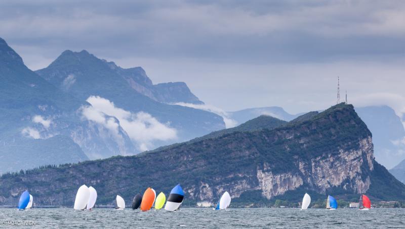The fleet on day 1 of the Melges 24 European Sailing Series at Riva de Garda - photo © M24CA / ZGN / Mauro Melandri