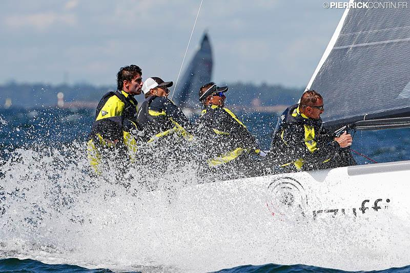 Luca Perego's Maidollis (2-6-2) today, firmly maintaining the lead on day 4 of the Melges 24 Worlds in Heksinki - photo © Pierrick Contin / www.pierrickcontin.com