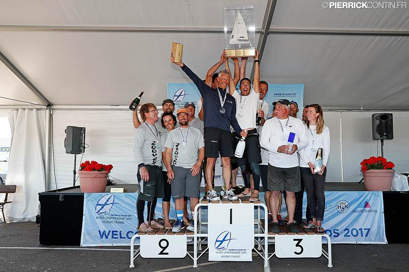 The main podium of the Melges 24 Worlds in Heksinki - photo © Pierrick Contin / www.pierrickcontin.com