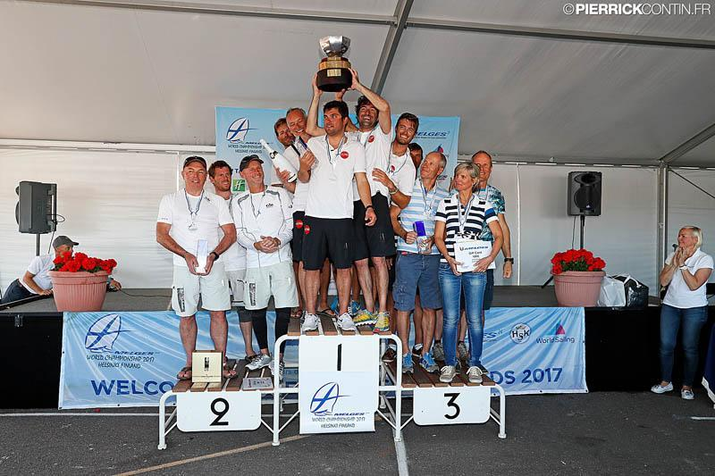 The Corinthian podium at the Melges 24 Worlds in Heksinki - photo © Pierrick Contin / www.pierrickcontin.com