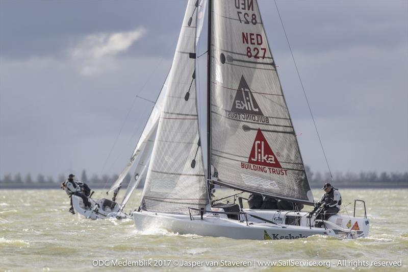 Eelco Blok's TEAM KESBEKE/SIKA/GILL with Ronald Veraar helming won one race today and scored also 2nd and 6th on day 2 of Melges 24 European Sailing Series Medemblik - photo © Jasper van Staveren / www.SailService.org