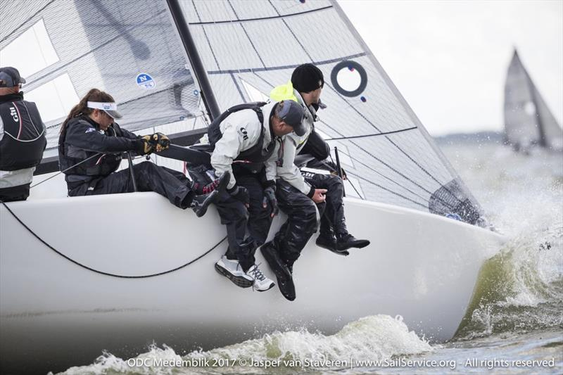 Miles Quinton's GILL RACE TEAM (GBR694) with Geoff Carveth in helm, winning the first race today and gaining also two third places, is lying on the third position on day 2 of Melges 24 European Sailing Series Medemblik - photo © Jasper van Staveren / www.SailService.org