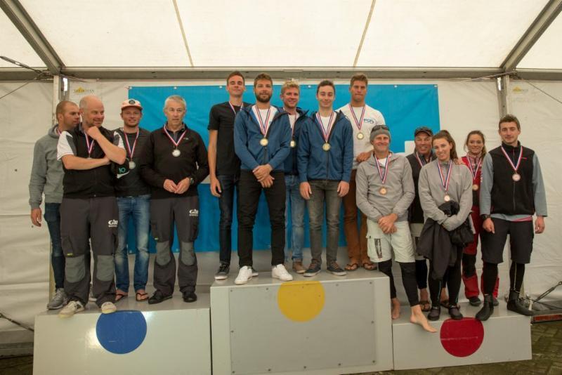Dutch Open podium in the Melges 24 European Sailing Series Medemblik - photo © Klaas Wiersma