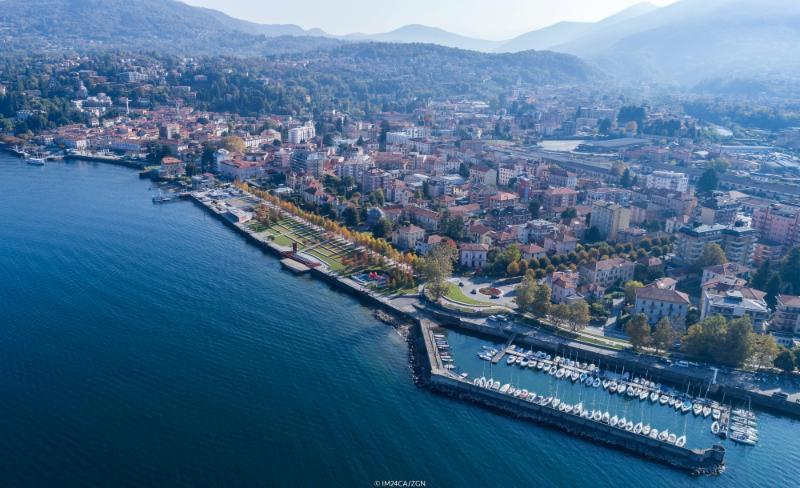 A bird's eye view of Luino on day 1 of the Melges 24 Lino Favini Cup - photo © IM24CA / ZGN