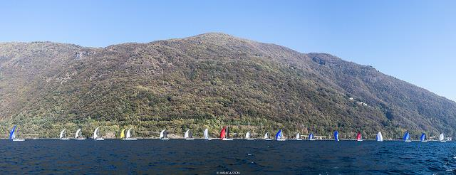 The fleet in Luino on day 2 of the Melges 24 Lino Favini Cup - photo © IM24CA / ZGN