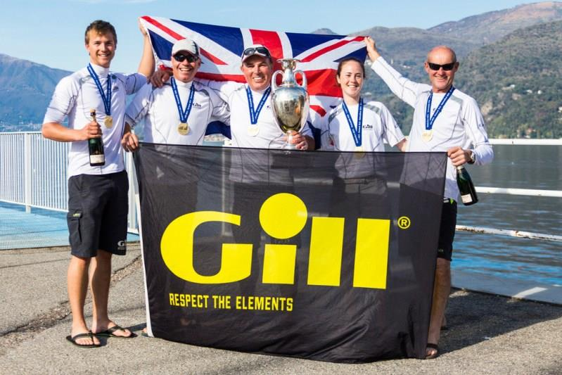 Happy team of Gill Race Team GBR694 winning the 2015 Melges 24 European Sailing Series in Luino, Italy photo copyright IM24CA / Zerogradinord taken at  and featuring the Melges 24 class