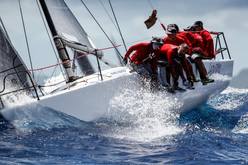 Sergio Sagramoso's Puerto Rican Melges 32, Lazy Dog on Johnnie Walker Race Day 3 at Antigua Sailing Week - photo © Paul Wyeth / www.pwpictures.com
