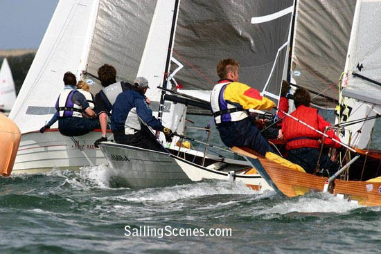 23 Merlins experienced some windy sailing at Parkstone YC.