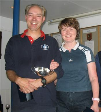Paul Seamen and Eileen Barry with the Southcott Cup