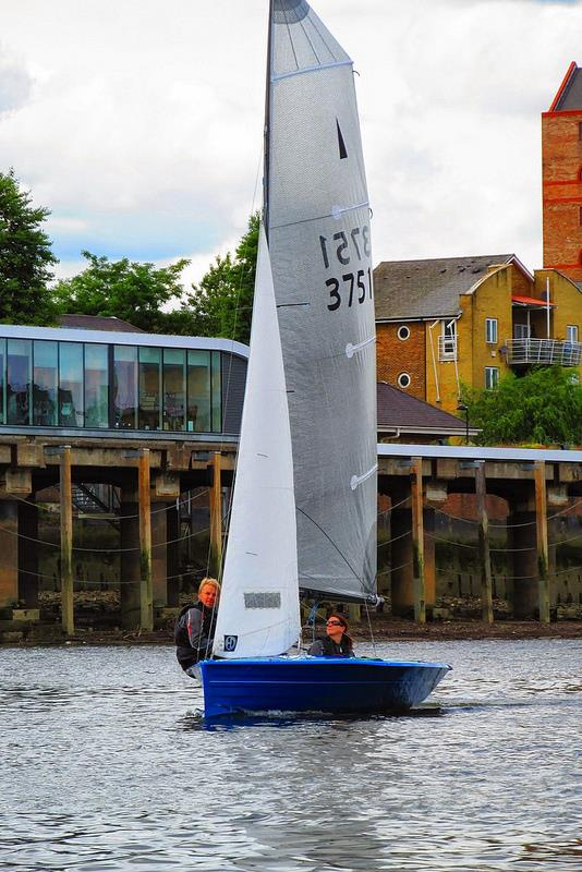 Merlin Rocket Downriver Race at Ranelagh  photo copyright Paul Markart taken at Ranelagh Sailing Club and featuring the Merlin Rocket class