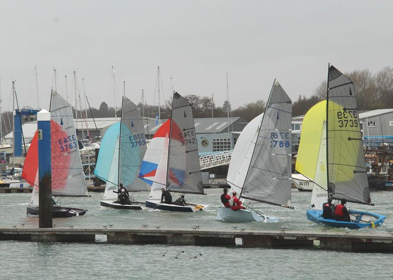 The 55th Annual Warming Pans at Hamble photo copyright Eddie Mays taken at Hamble River Sailing Club and featuring the Merlin Rocket class
