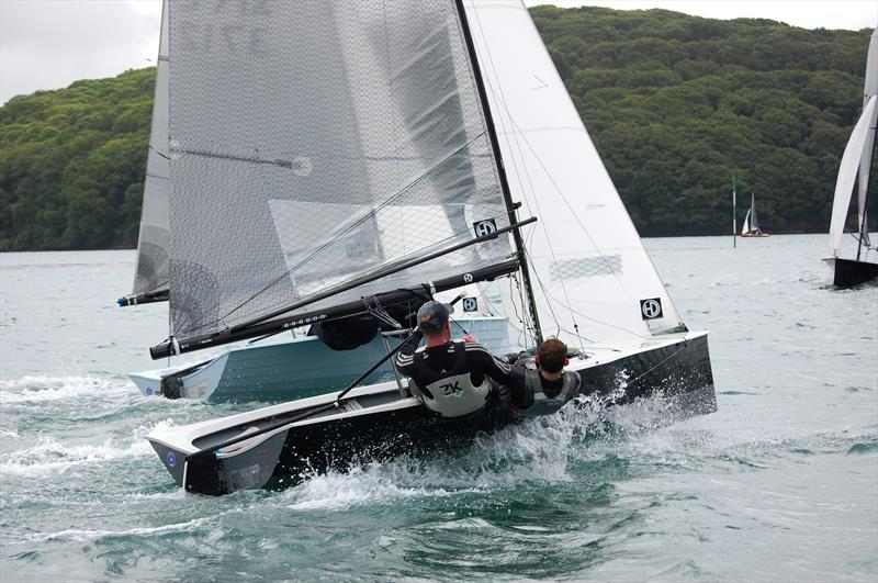 Salcombe Week for the Merlin Rockets involves a Fun exploration of the estuary, giving legs that wouldn't be found out on the more sanitized environment of a championship race course. Where else would you find a mile or more of close reaching? - photo © David Henshall