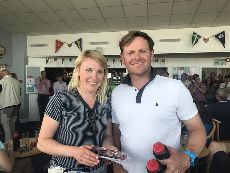 Simon Potts and Pippa Taylor finish 3rd in the Lymington Dinghy Regatta - photo © Lou Johnson & Claire Sleigh
